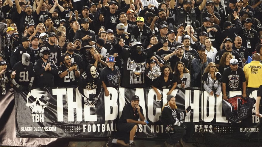 Raiders fans appear to be recreating 'Black Hole' in Las Vegas