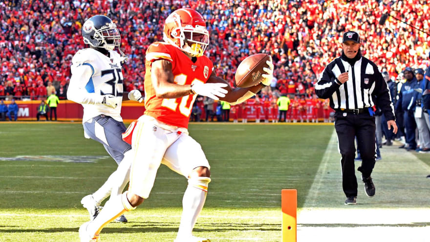 Watch: Chiefs' Tyreek Hill torches Titans with eight-yard, jet-sweep TD
