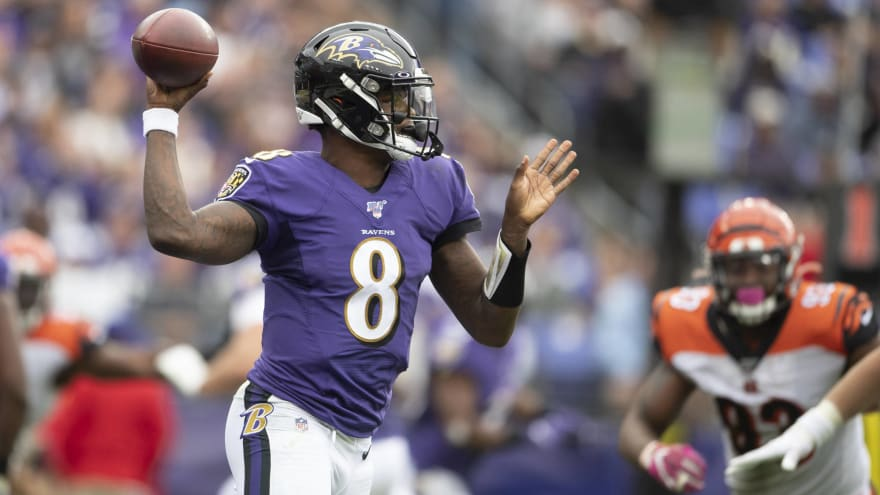 Lamar Jackson continues to make history with Ravens