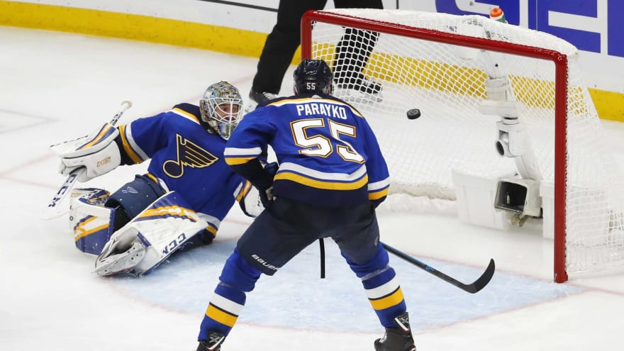 Blues players, fans furious after Sharks win Game 3 on hand pass goal