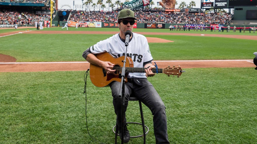 bec471876 Watch: Barry Zito teams up to sing national anthem before Giants game.  Originally posted on ...