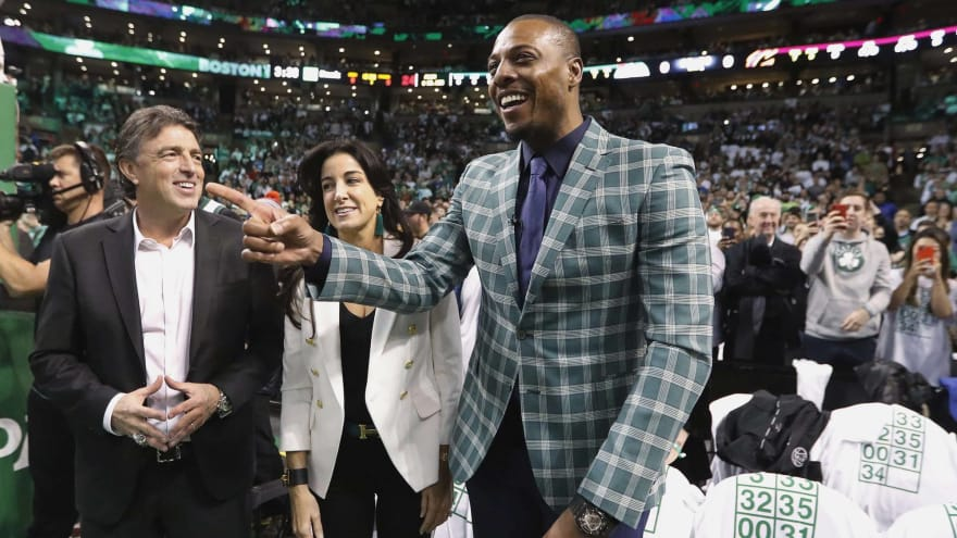 d3109383a WATCH  Paul Pierce gets No. 34 jersey retired by Celtics ...