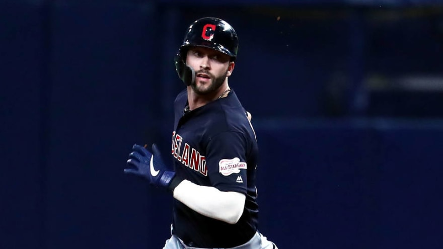 reputable site 89580 579f7 Tyler Naquin suffered torn ACL from collision with outfield ...