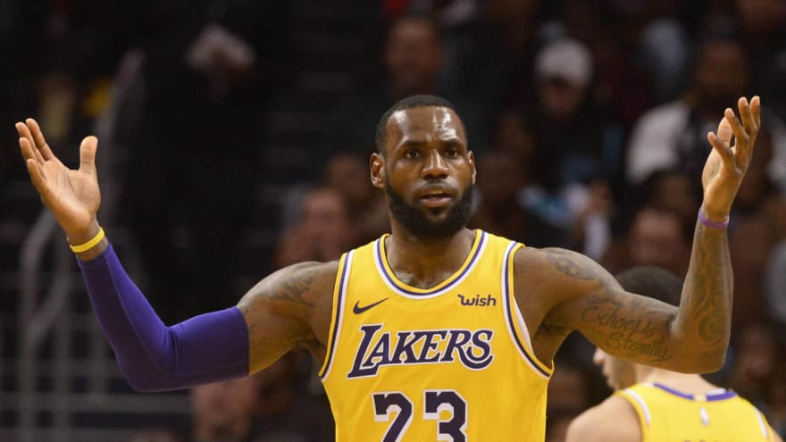 pretty nice dd2ad 3a39d LeBron James set to return to practice next week ...