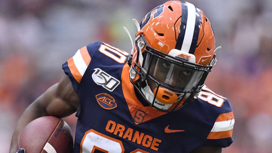 Watch: Syracuse's Taj Harris stuns Pitt with 94-yard TD catch