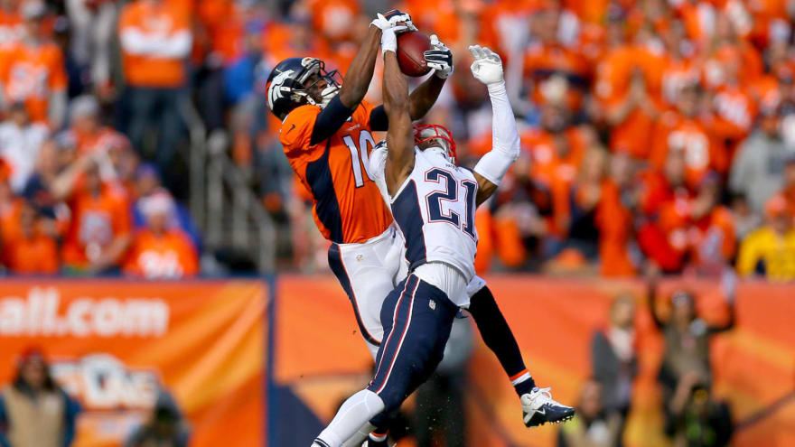 pretty nice 9415b f809c Emmanuel Sanders makes great catch over Malcolm Butler ...
