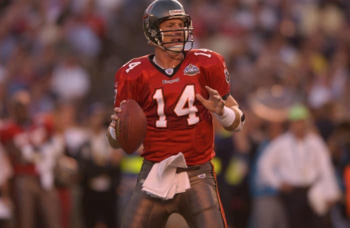 14.Super Bowl XXXVII: Brad Johnson, Tampa Bay Buccaneers, and Rich Gannon, Oakland Raiders