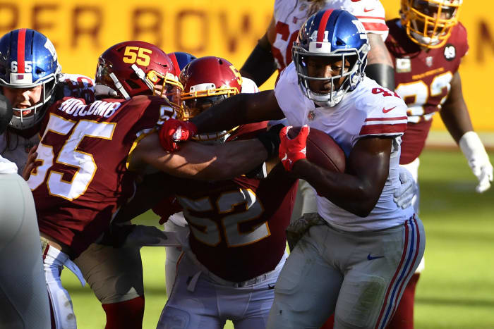 Saquon-less ground attack springs to life