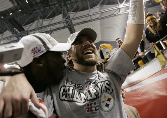 Super Bowl XL: Ben Roethlisberger, Pittsburgh Steelers, and Matt Hasselbeck, Seattle Seahawks