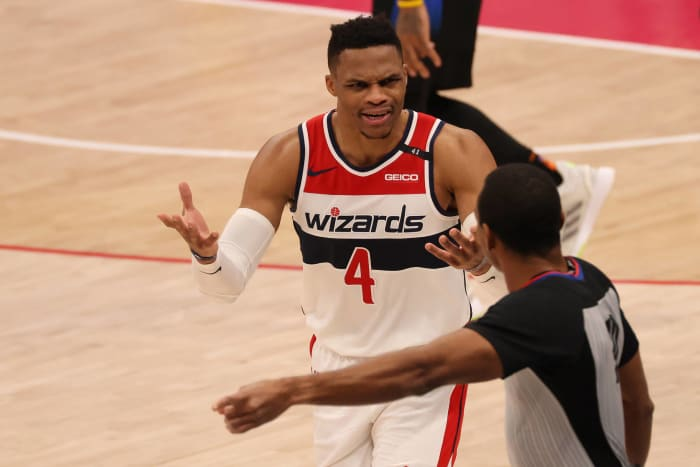 Westbrook steering Wizards south