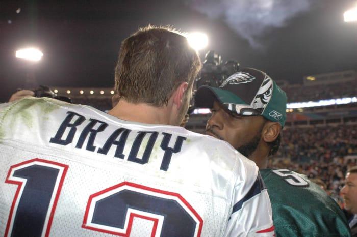 Super Bowl XXXIX: Tom Brady, New England Patriots, and Donovan McNabb, Philadelphia Eagles