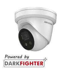 Hikvision DS-2CD2386G2-IU AcuSense 8MP fixed lens Darkfighter turret camera with IR & built in mic