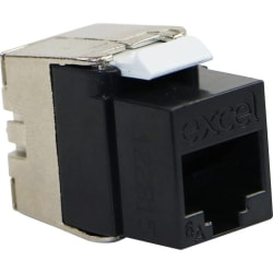 Excel Category 6A UTP Low Profile Keystone Jack Toolless - Black