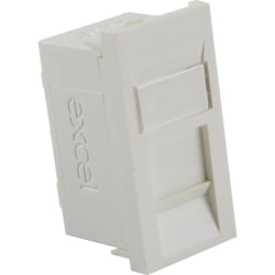 Excel Category 5e (UTP) Unscreened Euromod RJ45 Module - White
