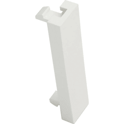 Excel White Half Width (12.5mm) Blank Plate