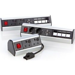 Excel Desktop Power Distribution Unit - 4x UK sockets, 2x 6C aper