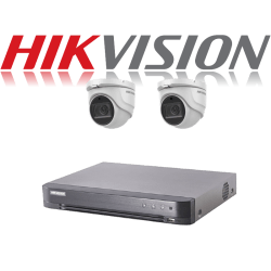 HikVision Turbo HD up to 5MP 4Ch Audio Kit with 2 x 5 MP 40m IR H