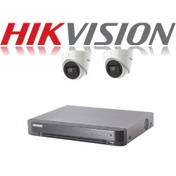 HikVision Turbo HD up to 5MP 4Ch Audio Kit with 2 x 5 MP 30m IR H