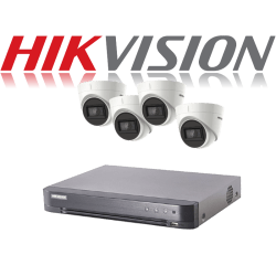 HikVision Turbo HD up to 5MP 4Ch Audio Kit with 4 x 5 MP 30m IR H