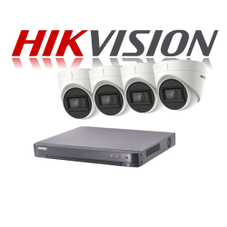 HikVision Turbo HD up to 5MP 8Ch Audio Kit with 4 x 5 MP 30m IR H