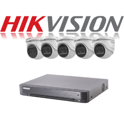 HikVision Turbo HD up to 5MP 8Ch Audio Kit with 5 x 5 MP 40m IR H