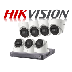 HikVision Turbo HD up to 5MP 8Ch Audio Kit with 7 x 5 MP 30m IR H