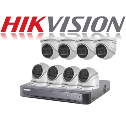 HikVision Turbo HD up to 5MP 8Ch Audio Kit with 8 x 5 MP 40m IR H