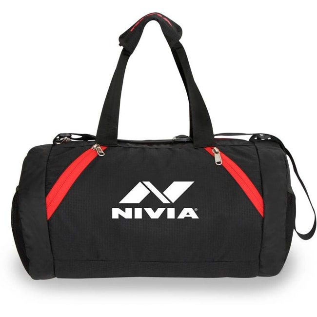 Nivia Beast Gym Bag  (Black, Red, Kit Bag)