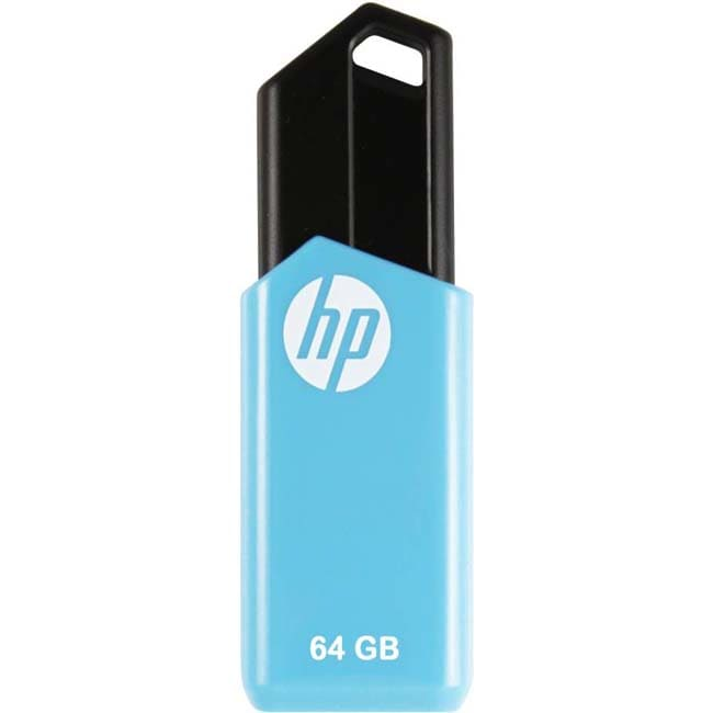 HP V150-64GB 64 GB Pen Drive  (Blue)