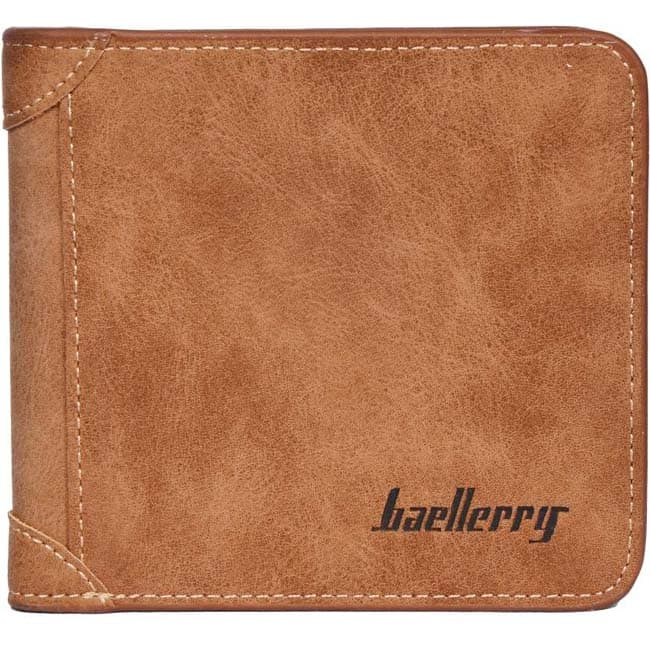 Baellerry Men Tan Genuine Leather Wallet  (5 Card Slots)