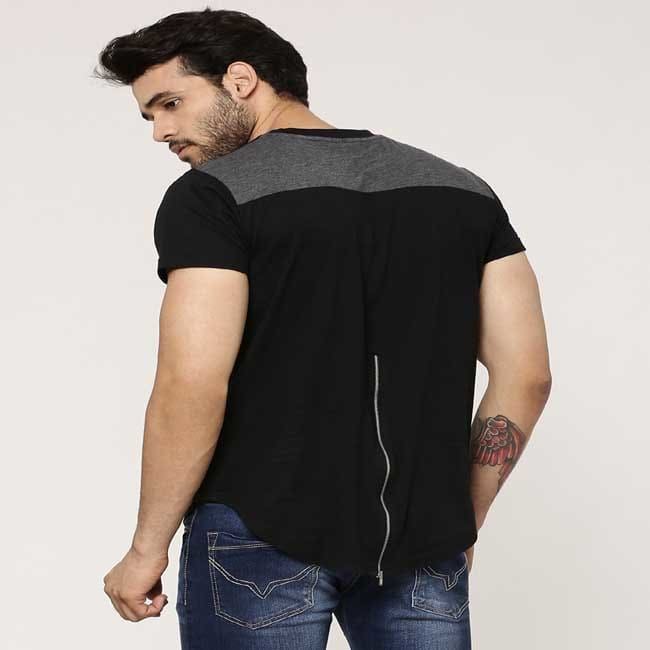 T-Shirt With Back Zip