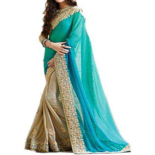 Women's saree online georgette @zhakaash